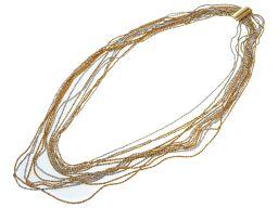 クリスチャンディオールChristian Dior 13連 ネックレス メタル/メタル ゴールド 0312 レディース