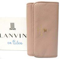 Beauty goods Lanvin 4 series key case leather / leather beige 0618 [pre] LANVIN unisex