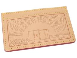 LVLOUIS VUITTON ノベルティ トランク カードケース ヌメ革/ヌメ革 ブラウン 0425 レディース