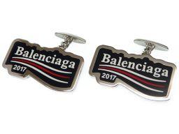 バレンシアガBALENCIAGA カフス カフス メタル/メタル ブラック 0468 メンズ