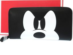 コーチCOACH ディズニー ミッキーマウス 長財布 レザー/レザー ブラック 0071 ユニセックス