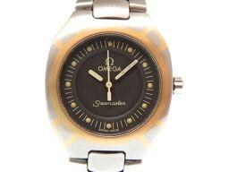 オメガOMEGA シーマスター ポラリス 腕時計 ステンレススチール/K18イエローゴールド/ステンレススチール シルバー 0283 レディース
