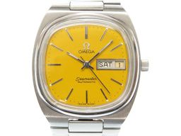 オメガOMEGA シーマスター TVスクリーン 腕時計 ステンレススチール/ステンレススチール イエロー 0609 メンズ