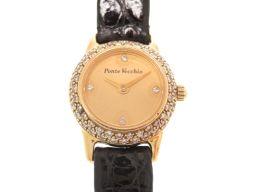 ポンテヴェキオPonte Vecchio 金無垢 ダイヤベゼル 腕時計 K18イエローゴールド/クロコダイル ゴールド 0023 レディース