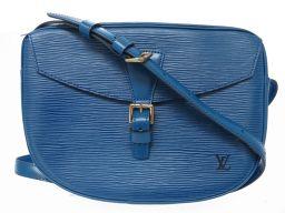 LVLOUIS VUITTON エピ ジュヌフィーユ  M52155 ショルダーバッグ エピレザー/エピレザー ブルー 0406 レディース