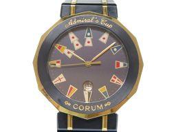 コルムCORUM アドミラルズカップ  腕時計 ステンレススチール/K18イエローゴールド/ステンレススチール ネイビー 0494 メンズ
