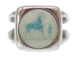 エルメスHERMES コロゾ リング・指輪 メタル/メタル 13号 シルバー 0015 レディース