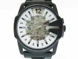 ディーゼルDIESEL 自動巻き スケルトン DZ-1791 腕時計 ステンレススチール ホワイト 0282 メンズ