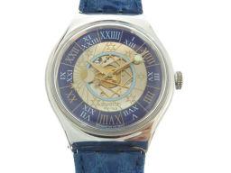 スウォッチSwatch 自動巻き トレゾールマジック 12999本限定 SAZ101 腕時計 Pt950プラチナ/レザー/Pt950プラチナ パープル 0283 メンズ