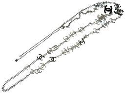 シャネルCHANEL ココマーク ロング ネックレス メタル/メタル ブラック 0161 レディース