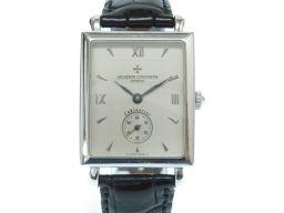 ヴァシュロン・コンスタンタンVACHERON CONSTANTIN キャビノチェ 金無垢 腕時計 K18ホワイトゴールド/K18ホワイトゴールド シルバー 0005 メンズ