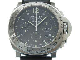 パネライPANERAI ルミノール クロノグラフ ディライト PAM00250 腕時計 ステンレススチール/ラバー/ステンレススチール ブラック 0007 メンズ