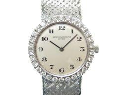 ヴァシュロン・コンスタンタンVACHERON CONSTANTIN ダイヤベゼル 金無垢 腕時計 K18ホワイトゴールド/K18ホワイトゴールド シルバー 0010 レディース