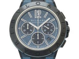 ブルガリBVLGARI 自動巻き ディアゴノ クロノグラフ マグネシウム DG42C3SMCVDCH 腕時計 マグネシウム/ラバー/マグネシウム ブルー 0011 メンズ