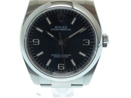 ロレックスROLEX オイスターパーペチュアル 116000 腕時計 ステンレススチール/ステンレススチール ネイビー 0013 メンズ