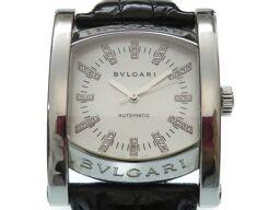 ブルガリBVLGARI 自動巻き アショーマ ダイヤインデックス シェル文字盤 AA44S 腕時計 ステンレススチール/ステンレススチール シルバー 0019 メンズ