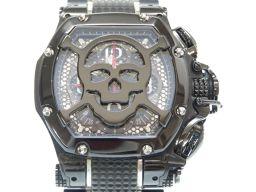 アクアノウティックAQUANAUTIC スカル キングクーダ トノー クロノグラフ TN2202GN22BPSKLS22 腕時計 ステンレススチール/ステンレススティール(ブラックPVD加工) ブラック 0022 メンズ