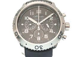 ブレゲBreguet 自動巻き トランスアトランティック タイプXXI クロノグラフ 3810ST929ZU 腕時計 ステンレススチール/クロコダイル/ステンレススチール シルバー 0091 メンズ