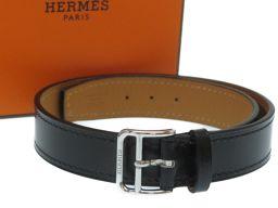 エルメスHERMES 2連ブレスレット/チョーカー ブレスレット レザー/レザー ブラック A刻印 0197 レディース