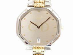 クリスチャンディオールChristian Dior オクタゴン 45.204 腕時計 ステンレススチール/ステンレススチール シルバー 0004 メンズ