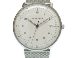 ユンハンスJUNGHANS マックスビル 041/4461.00 腕時計 ステンレススチール/ステンレススチール ホワイト 0013 メンズ