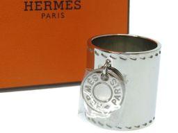 エルメスHERMES セリエ スカーフリング メタル/メタル シルバー 0014 レディース