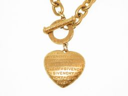 Givenchy GIVENCHY Heart Vintage Necklace Metal / Metal Gold 0149 Women
