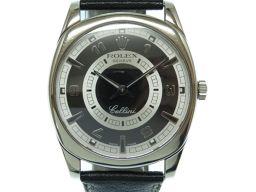 ロレックスROLEX 手巻き チェリーニ ダナオス 金無垢 4243 腕時計 K18ホワイトゴールド/レザー/K18ホワイトゴールド ブラック 0050 メンズ