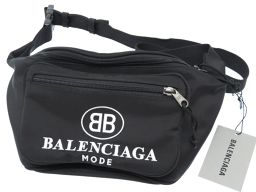 バレンシアガBALENCIAGA ウエスト ポーチ バッグ ウエストバッグ ナイロン/ナイロン ブラック 0168 メンズ