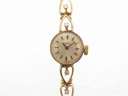 オメガOMEGA ヴィンテージ 腕時計 K14イエローゴールド/ダイヤモンド/K14イエローゴールド ゴールド 0114 レディース