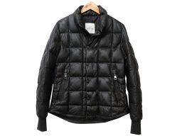 モンクレールMONCLER lumiere ダウンジャケット 羊革/ラムスキン ブラック 0140 メンズ