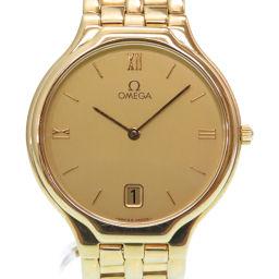 オメガOMEGA クオーツ 金無垢 腕時計 K18イエローゴールド/K18イエローゴールド ゴールド 0005 メンズ