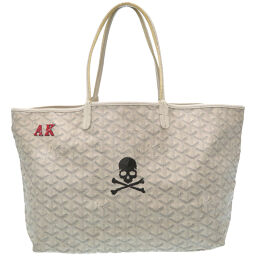 GOYARD GOYARD Mastermind collaboration Saint Louis PM tote bag coated canvas / coated canvas white 0131 women