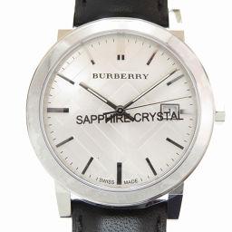 バーバリーBURBERRY クオーツ CITY シティ BU9008 腕時計 ステンレススチール/レザー/ステンレススチール シルバー 0008 メンズ