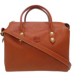 Irbizonte IL BISONTE Handbag Leather / Leather Brown 0147 Ladies