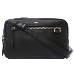 Tods TOD'S PZNB999 Shoulder Bag Leather / Leather Black 0061 Men's