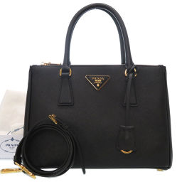 Prada PRADA 2way Galleria 1BA863 Handbag Leather / Saffiano Black 0056 Ladies