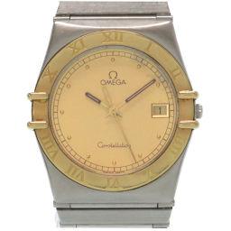 オメガOMEGA クオーツ コンステレーション 腕時計 ステンレススチール/K18イエローゴールド/ステンレススチール ゴールド 0085 メンズ