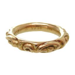 クロムハーツCHROME HEARTS 22K スクロールバンド リング リング・指輪 K22イエローゴールド/K22イエローゴールド 21号 ゴールド 0121 メンズ