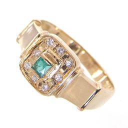 SELECT JEWELRY  リング・指輪 2.8g K18 エメラルド ダイヤ 15号 レディース【007】