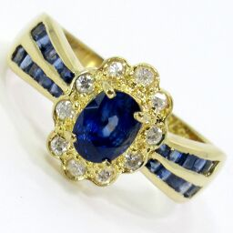 SELECT JEWELRY Ring / Ring 5.4g K18 Sapphire 0.78ct Diamond 0.21ct No. 16 Ladies [101]