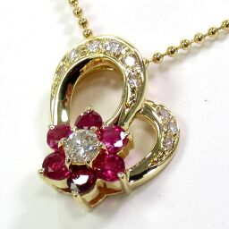 SELECT JEWELRY Necklace 5.5g K18 Ruby 0.81ct Diamond 0.33ct Ladies [101]