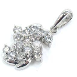 SELECT JEWELRY Pendant 3.5g Pt900 Diamond 15P Ladies [104]