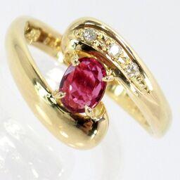 SELECT JEWELRY  SEIKO/セイコー リング・指輪 3.0g K18 ルビー0.45ct ダイヤモンド0.10ct 11号 レディース【101】