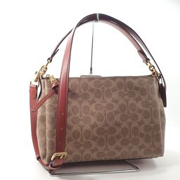 COACH Coach 2WAY Shake Ross Body Shoulder Bag 550g Leather Ladies [104]