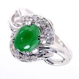 SELECT JEWELRY Ring / Ring 7.3g Pt900 / Jade / Diamond Jade 1.17ct Diamond 0.10ct No. 11 Ladies [105]