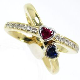 SELECT JEWELRY Ring / Ring 8.9g K18 Ruby 0.29ct Sapphire 0.32ct Diamond 0.10ct No. 14 Ladies [101]