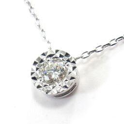 SELECT JEWELRY  ネックレス 1.4g K18WG ダイヤモンド0.07ct レディース【102】