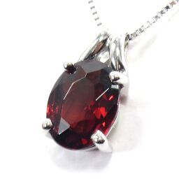 SELECT JEWELRY Necklace 2.6g K18WG Garnet 2ct Ladies [102]