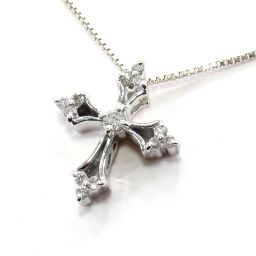 SELECT JEWELRY Necklace 2.1g K18WG Diamond 0.12ct Ladies [102]